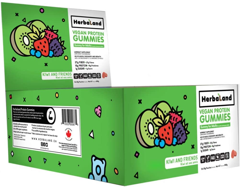 Herbaland Vegan Protein Gummies
