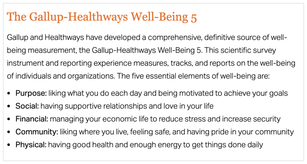 the 5 fundamentals of wellbeing
