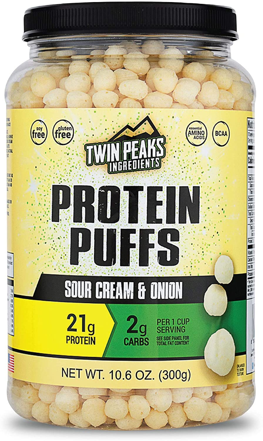 Twin Peaks Low Carb Keto Friendly Protein Puffs Sour Cream Onion