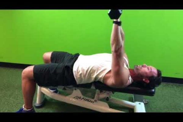 How to do a dumbbell bench press