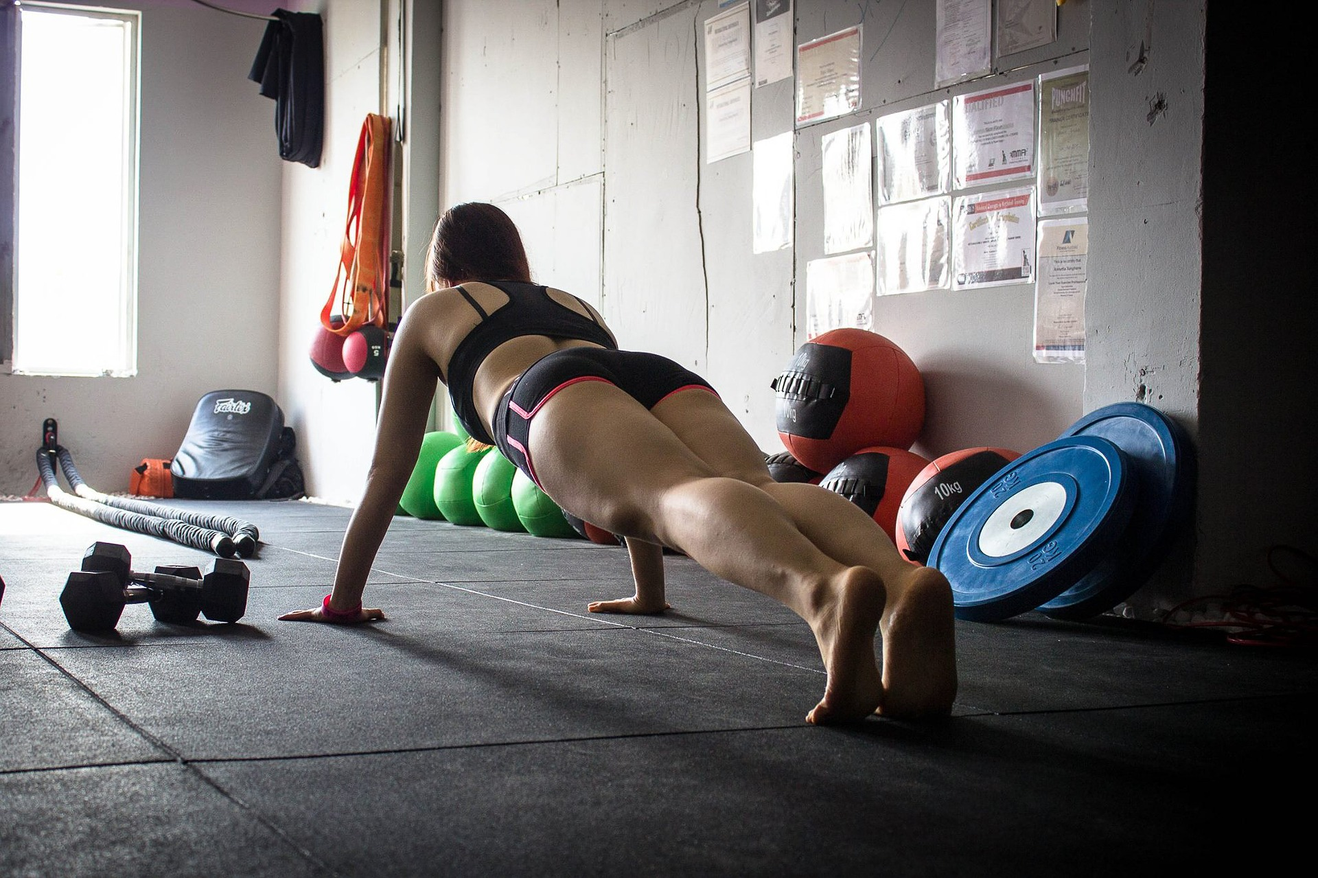 Planks are a great way to train your core